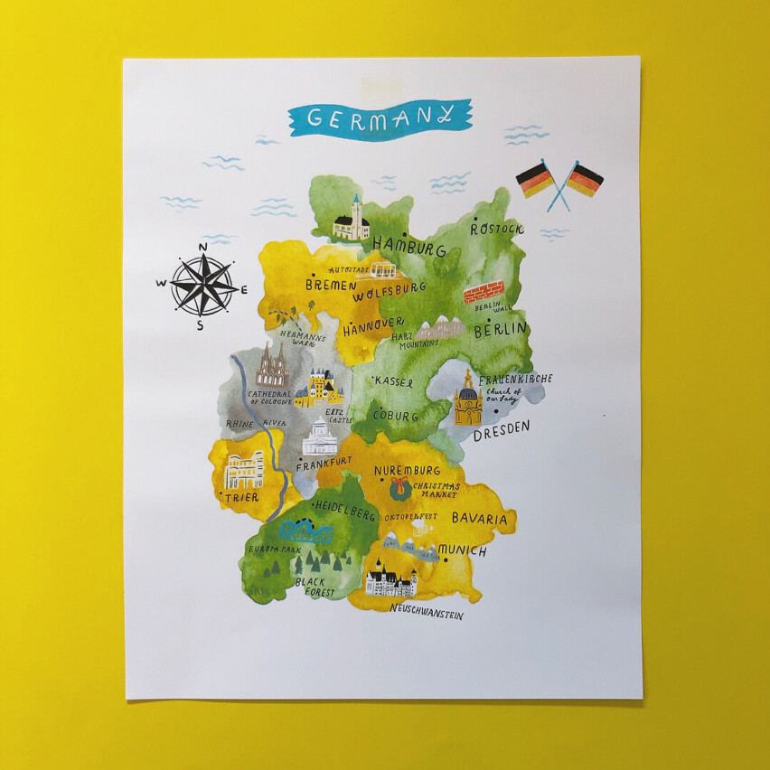 Premiere Issue Map of Germany