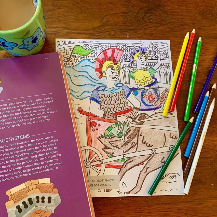 Issue Four Coloring Page
