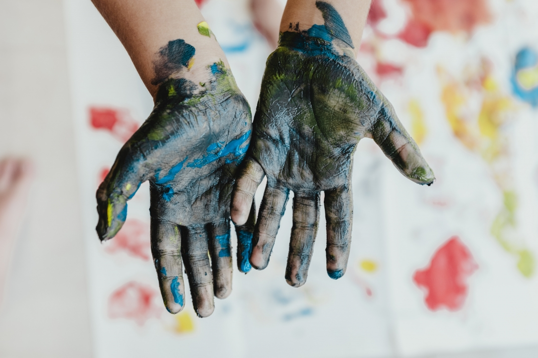 Hands with Paint